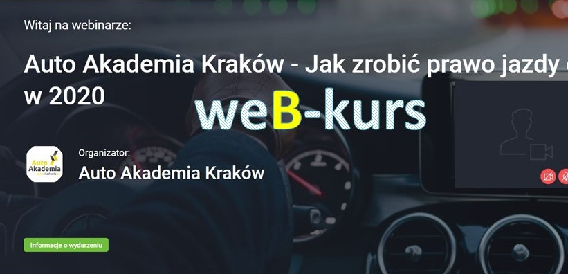 Kurs B on-line 2020 #zostanwdomu